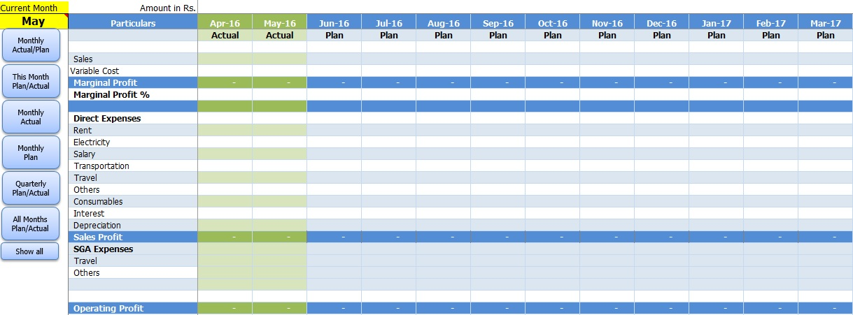 monthly management report template