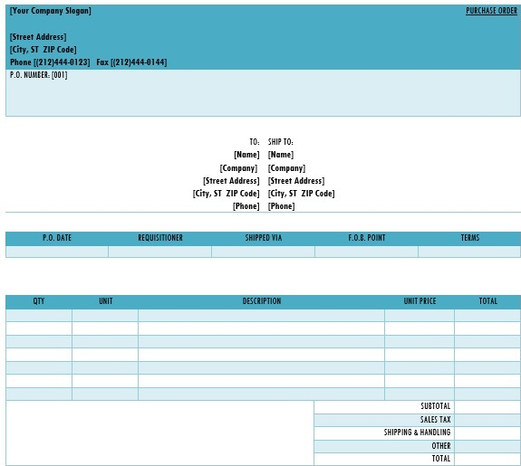 best purchase order template 1