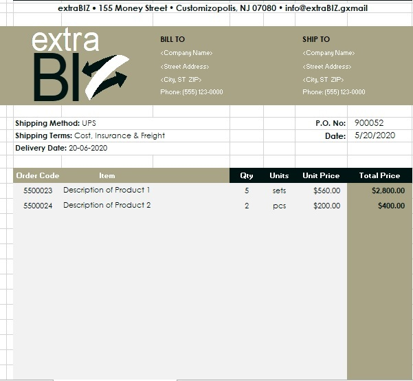 best purchase order template 6