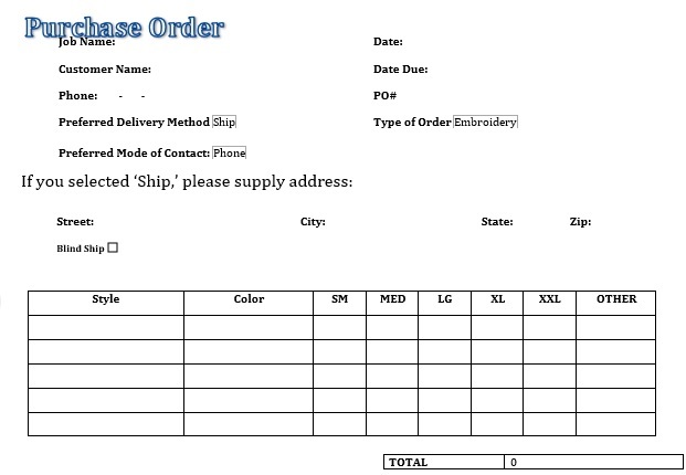 best purchase order template