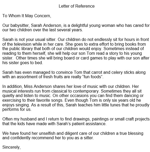 character reference letter template for a friend