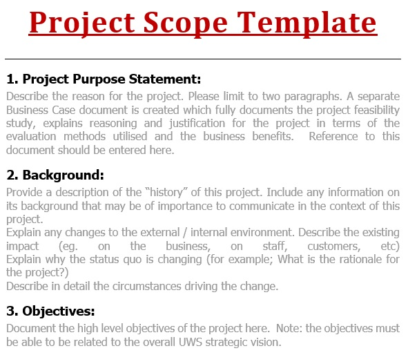free project scope template 14
