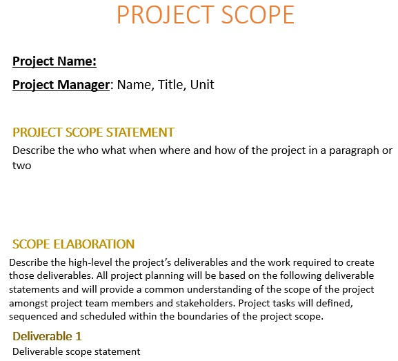 free project scope template 8