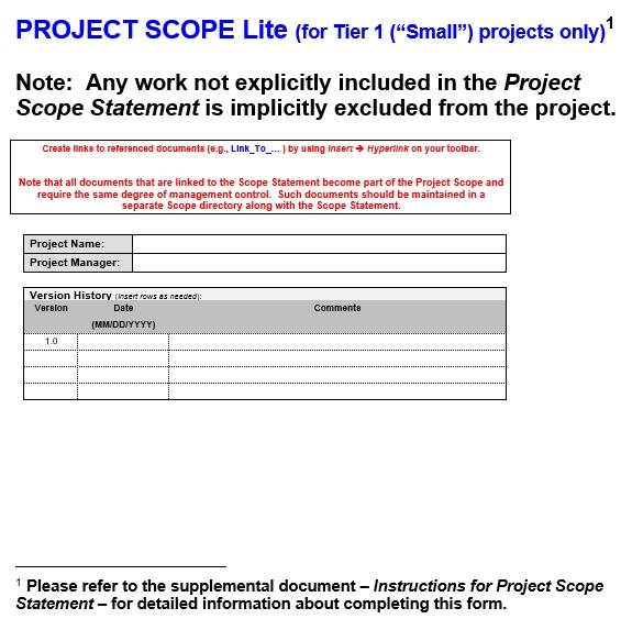 free project scope template 9