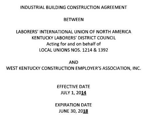 industrial construction agreement template